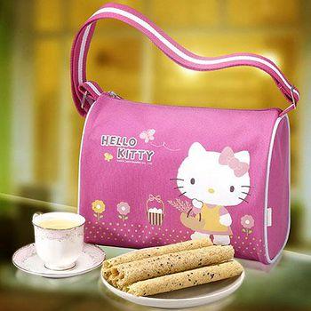 Hello Kitty 芝麻蛋捲禮盒-自然風(2盒) 盒