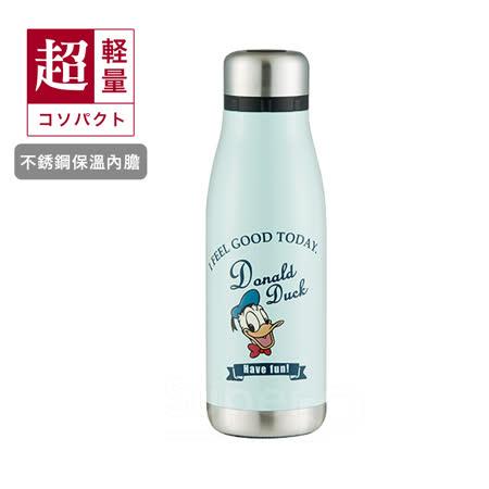 日本Skater不鏽鋼保溫曲線瓶(400ml)唐老鴨