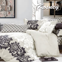 《KOSNEY  賽納城堡》特大精梳棉四件式兩用被床包組