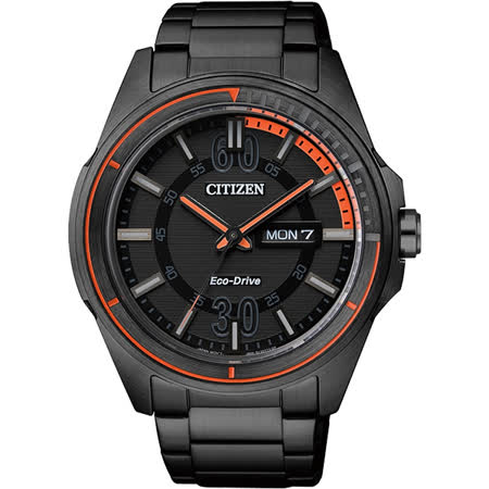 CITIZEN Eco-Drive METAL 率性雅爵腕錶-黑/44mm AW0035-51E