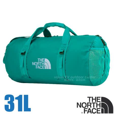 【美國 The North Face】FLYWEIGHT DUFFEL 輕量多功能側背包31L(395g).旅行包.收納包/70DPU塗層抗撕裂尼龍.可反折收納/ATTR 瓷釉藍 V