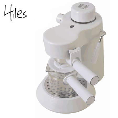 Hiles義式高壓蒸氣咖啡機 HE-301-典雅白
