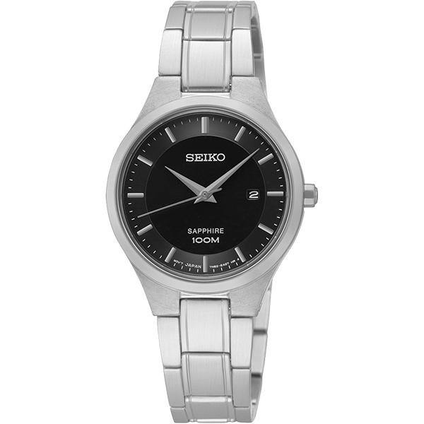 SEIKO CS 品味城市 女錶~黑x銀28mm 7N82~0JF0D^(SXDG47P1