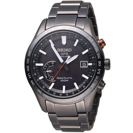 SEIKO 精工 Sportura 太陽能GPS定位腕錶 8X22-0AC0SD SSF005J1
