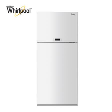 【Whirlpool惠而浦】 521公升雙門玻璃面板冰箱 WDT2525LW 送安裝+超商禮券(鑑賞期過後寄出)
