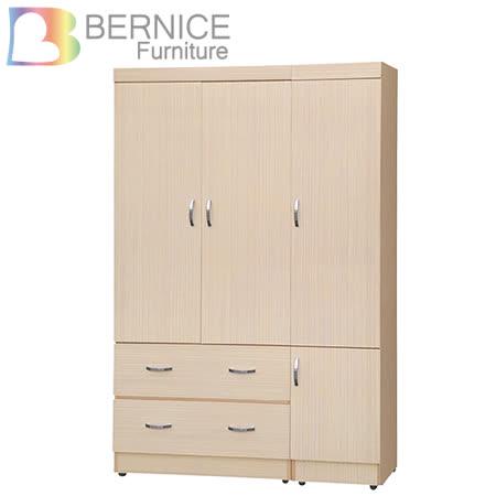 Bernice-卡米4尺四門二抽衣櫃