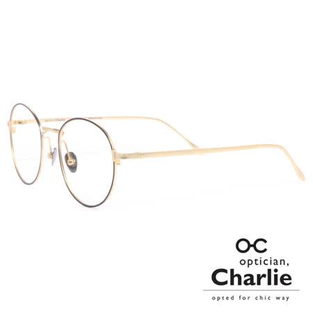 Optician Charlie 韓國亞洲專利自我時尚潮流 BF系列光學眼鏡 - BF BK (黑 + 金)
