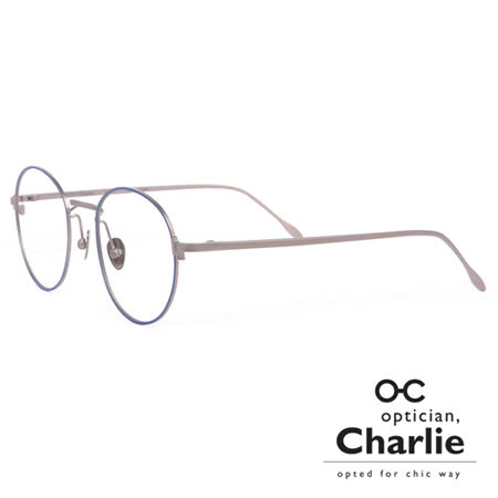 Optician Charlie 韓國亞洲專利自我時尚潮流 BF系列光學眼鏡 - BF NV(藍 + 槍色)