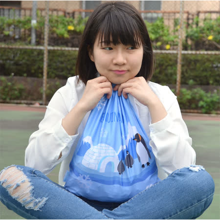 ≡MARIUM≡《多功能鞋袋》企鵝家族-藍色 SB-601034