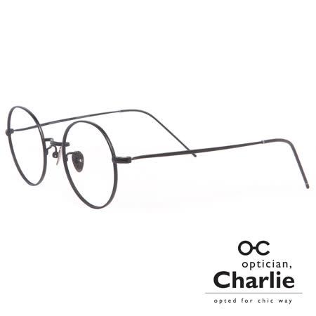Optician Charlie 韓國亞洲專利自我時尚潮流 ET系列光學眼鏡 - ET BK(黑)