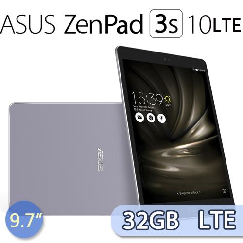 ASUS ZenPad 3s 10 Z500KL (4G/32G) LTE 平板電腦 (極致灰)-送10吋保護套+螢幕保護貼