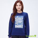 bossini女裝-印花運動衫10海軍藍