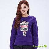 bossini女裝-印花運動衫11深紫