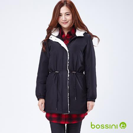 bossini女裝-軍裝長版連帽外套05黑