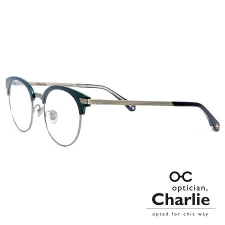 Optician Charlie 韓國亞洲專利自我時尚潮流 FP系列光學眼鏡 - FP BL(藍 + 銀)