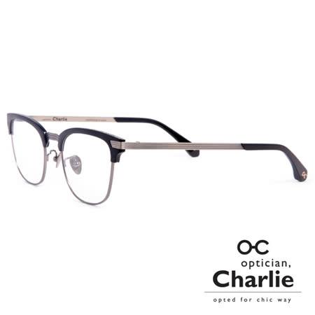 Optician Charlie 韓國亞洲專利自我時尚潮流 MP系列光學眼鏡 - MP BK(黑) 雜誌款