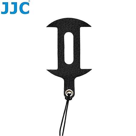 JJC真皮蒙皮貼40.5mm鏡頭蓋防丟繩 CS-S1650