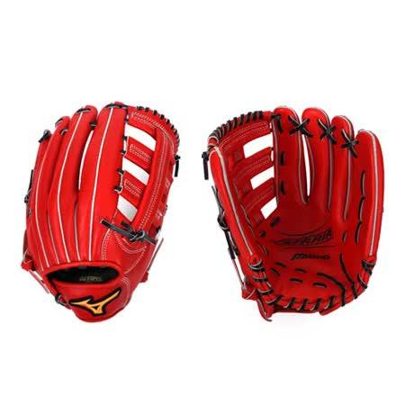 MIZUNO 硬式手套-棒球 壘球 美津濃 橘紅 F