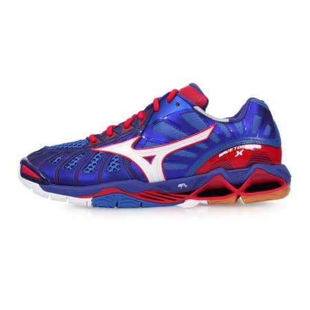(男) MIZUNO WAVE TORNADO X 排球鞋-美津濃 藍紅