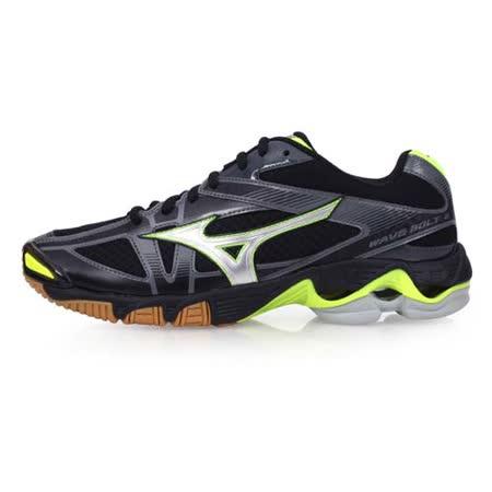(男) MIZUNO WAVE BOLT 6 排球鞋-美津濃 黑螢光黃