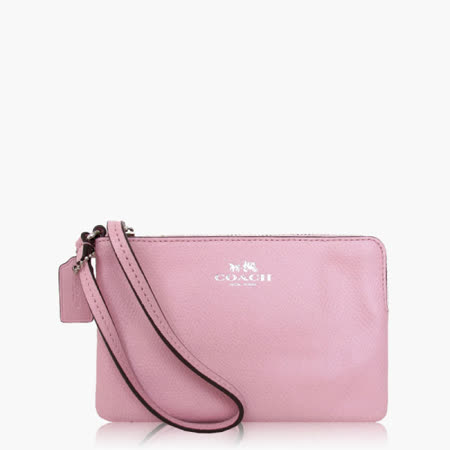 COACH 攜帶便利 皮革 / 零錢收納 / 手拿包(小款)_粉色