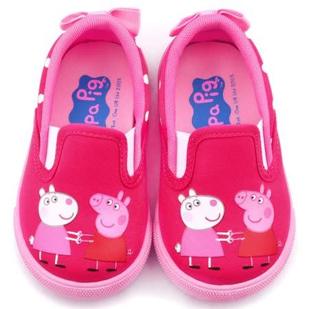 童鞋城堡-粉紅豬小妹 佩佩豬 中童 甜美蝴蝶結休閒鞋PG8507-粉