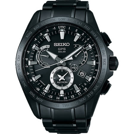 SEIKO 精工 ASTRON GPS 鈦金屬星際戰鑑太陽能時尚腕錶/45mm/8X53-0AB0SD