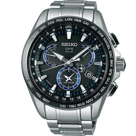【SEIKO 精工】ASTRON GPS衛星電波鈦金屬時尚腕錶(8X53-0AS0D/SSE101J1)