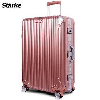 Starke 德國設計 28吋PC+ABS鏡面鋁框硬殼行李箱 B系列B200- 玫瑰金 (008003-02)