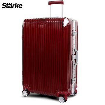 Starke 德國設計 28吋PC+ABS鏡面鋁框硬殼行李箱 B系列B200- 金屬紅 (008003-04)