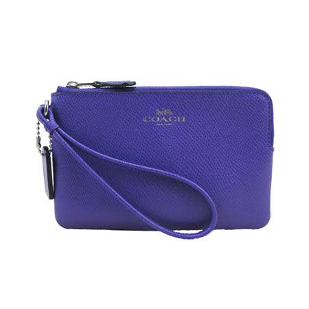 COACH送原廠提袋-L型防刮手拿包(紫)
