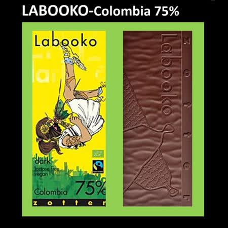 Labooko-頂級哥倫比亞 75%純巧克力