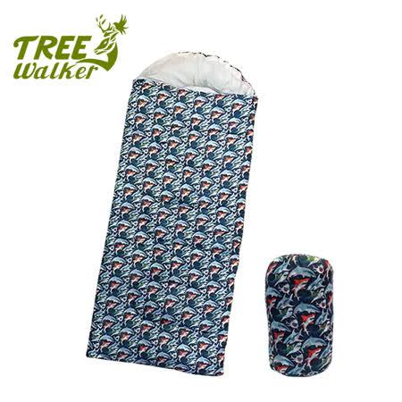 Tree Walker 兒童款柔軟舒適捲筒睡袋 鯊魚