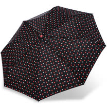 【rainstory】紅白星光抗UV隨身自動傘