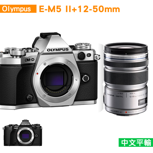 OLYMPUS OM-D E-M5 Mark II+12-50mm (中文平輸)送單眼相機包+減壓背帶+相機清潔組+高透光保護貼