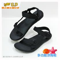 【G.P 女款時尚休閒織帶涼鞋】 G7642W-10 黑色 (SIZE:36-39 共二色)