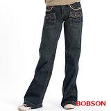 BOBSON 貼帶寬管中喇叭褲(9039-77)