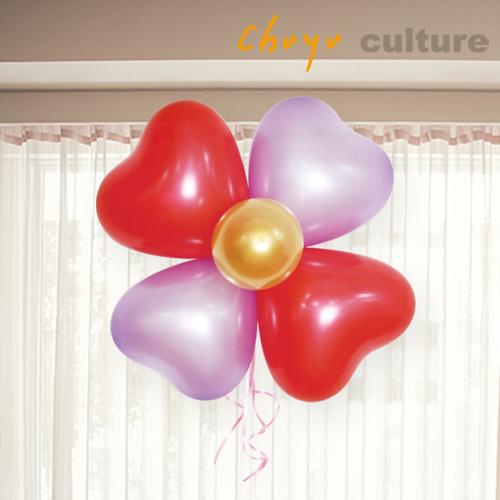 珠友 BI~03103 製~5 12吋氣球 包~愛心花氣球花愛心氣球 氣球婚禮佈置 生日