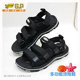 【G.P 女款時尚休閒織帶涼鞋】G7656W-10 黑色 (SIZE:36-39 共三色)