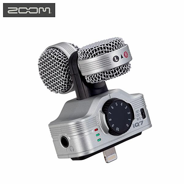 Zoom銀色iQ7立體聲 錄音麥克風 適iPhone iPad iPod 5s 5c 6s