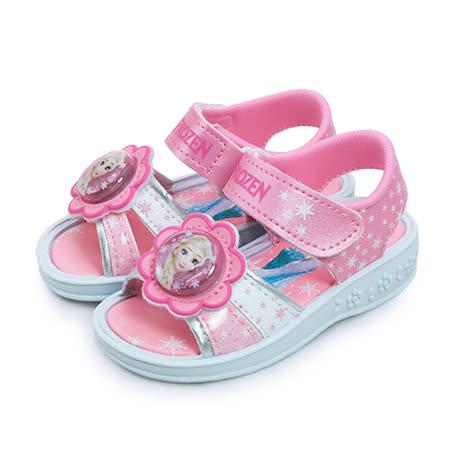 【小童】Disney FORZEN冰雪奇緣 閃燈運動涼鞋 台灣製造 粉紅 64133