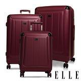 ELLE Harp系列 經典霧面輕量防刮行李箱/旅行箱20+24+28吋三件組-勃根地紅EL3118520+24+28-01