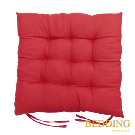 【BEDDING】綁帶式九針餐桌椅墊-胭脂紅