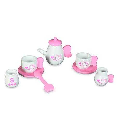 【Hello Kitty 凱蒂貓】KT木製茶具組 KT25198