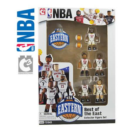 【C3 TOYS】超可動積木人偶NBA系列-明星球員5入套組 東區 21543