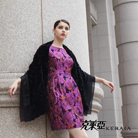 【克萊亞KERAIA】優雅黑網袖緹花洋裝