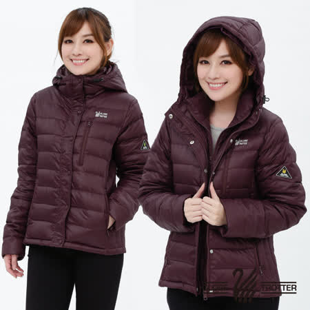 【遊遍天下】女款假二件式JIS90%羽絨防風防潑水極暖羽絨外套G0339磚紅