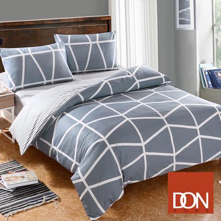《DON曼圖亞》加大四件式純棉兩用被床包組