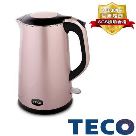 【福利品】TECO東元 1.4L雙層防燙不鏽鋼快煮壺 XYFYK1401