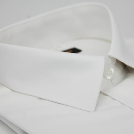 【金安德森】白色壓光窄版長袖襯衫